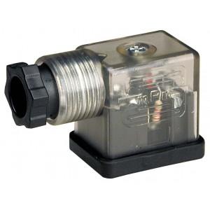 Utikač na magnetni ventil DIN 43650B sa LED - mali