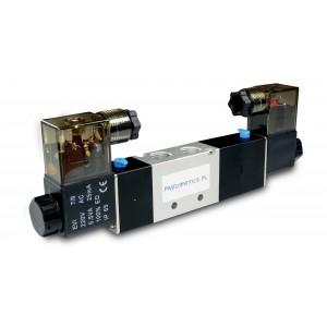 Elektromagnetski ventil 5/3 4V430C 1/2 inča za pnaumatske aktuatore 230V ili 12V, 24V