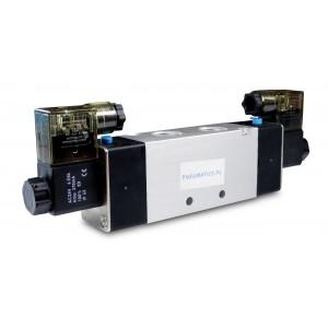 Elektromagnetski ventil 4V420 5/2 bistabilni 1/2 inča za pneumatske cilindre 230V ili 12V, 24V