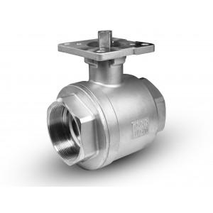 Kuglični ventil od nehrđajućeg čelika 1 1/2 inčni DN40 montažna platforma ISO5211