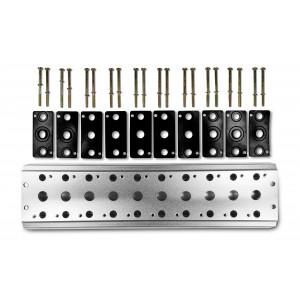 Kolektorska ploča za spajanje 10 ventila 1/4 serije 4V2 4A Grupni priključak 5/2 5/3