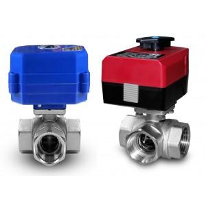 Trosmjerni kuglasti ventil 1 inč s električnim aktuatorom A80 ili A82