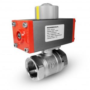 Kuglični ventil od mesinga 1 inč DN25 s pneumatskim aktuatorom AT32