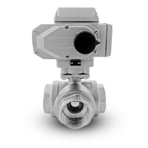 Trosmjerni kuglični ventil od nehrđajućeg čelika 2 inča DN50 s električnim aktuatorom A1600