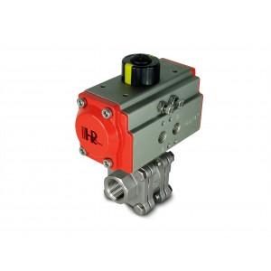 Kuglični ventil visokog pritiska 1/2 inča DN15 PN125 s pneumatskim aktuatorom AT40