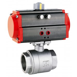 Kuglični ventil od nehrđajućeg čelika 1 inč DN25 s pneumatskim aktuatorom AT40