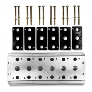 Kolektorska ploča za spajanje 6 ventila 1/4 serije 4V2 4A Grupni priključak 5/2 5/3