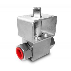 Kuglični ventil visokog tlaka 1/4 inča SS304 HB22 montažna ploča ISO5211