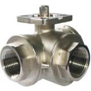 Trosmjerni kuglasti ventil 1 inčni DN25 montažna ploča ISO5211 industrijski