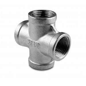 Poprečni unutarnji navoj cijevi od nehrđajućeg čelika 4 x 1/4 inča