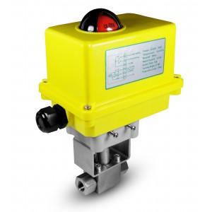 Kuglični ventil visokog tlaka 1/4 inča SS304 HB22 s električnim aktuatorom A250