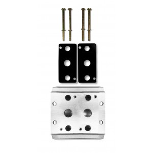 Kolektorska ploča za spajanje 2 ventila 1/4 serije 4V2 4A Grupni priključak 5/2 5/3