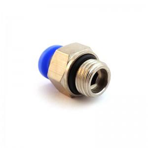 Utaknite bradavicu ravno crijevo 12 mm navoj 3/8 inča PC12-G03