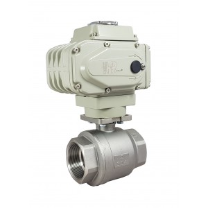 Kuglični ventil od nehrđajućeg čelika 2 inča DN50 s električnim aktuatorom A500
