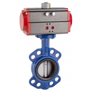 Leptir ventil, prigušnica DN80 s pneumatskim aktuatorom AT75