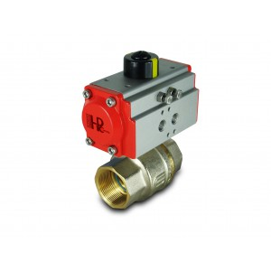 Kuglični ventil od mesinga 1 1/2 inča DN40 s pneumatskim aktuatorom AT52