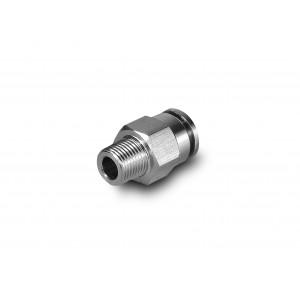 Utična bradavica ravno crijevo od nehrđajućeg čelika 8 mm navoj 1/8 inča PCSW08-G01