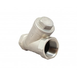 Nepovratni ventil Y tip DN15 1/2 inča - nehrđajući čelik SS316